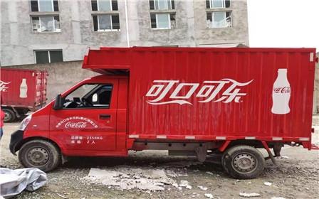 可口可乐货车车身广告